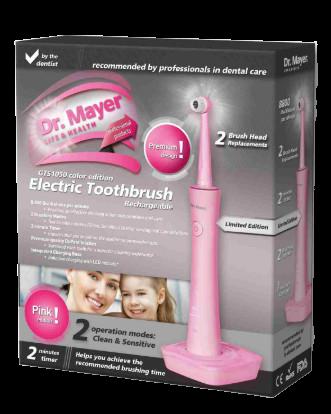 Dr. Mayer GTS1050 Elektrická zubná kefka, ružová
