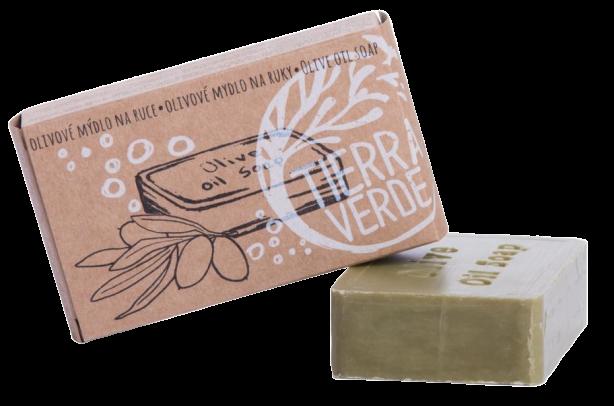 Tierra Verde Olivové mydlo na ruky v krabičke 100g