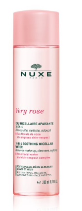 NUXE Very rose 3-v-1 čistiaca voda 200 ml