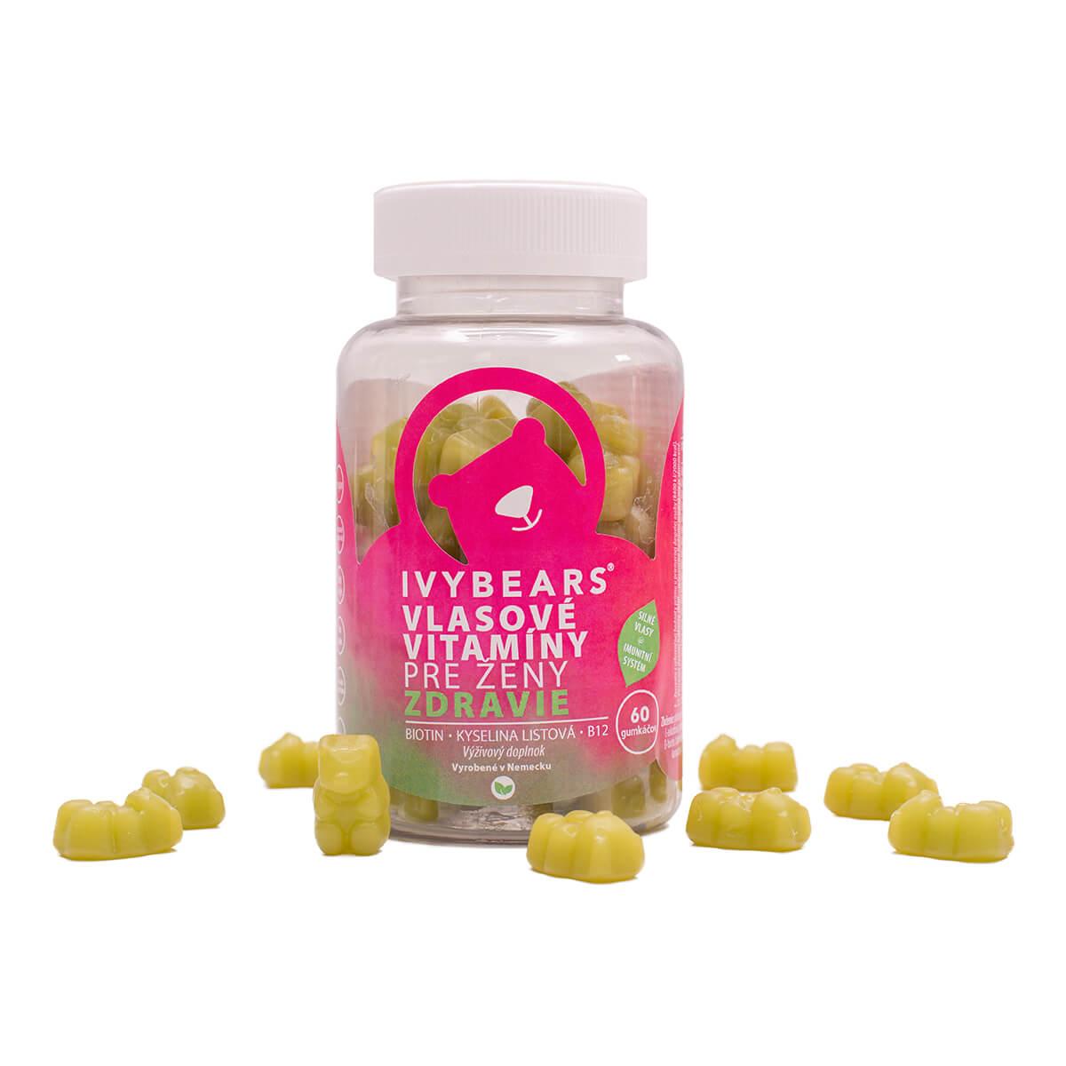 IVY Bears vlasové vitamíny pre ženy 60ks