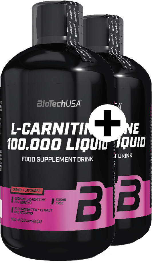 BiotechUSA L Carnitine Liquid 100000mg L Carnitine Liquid mg (A) 500 ml +500 ml čerešňa