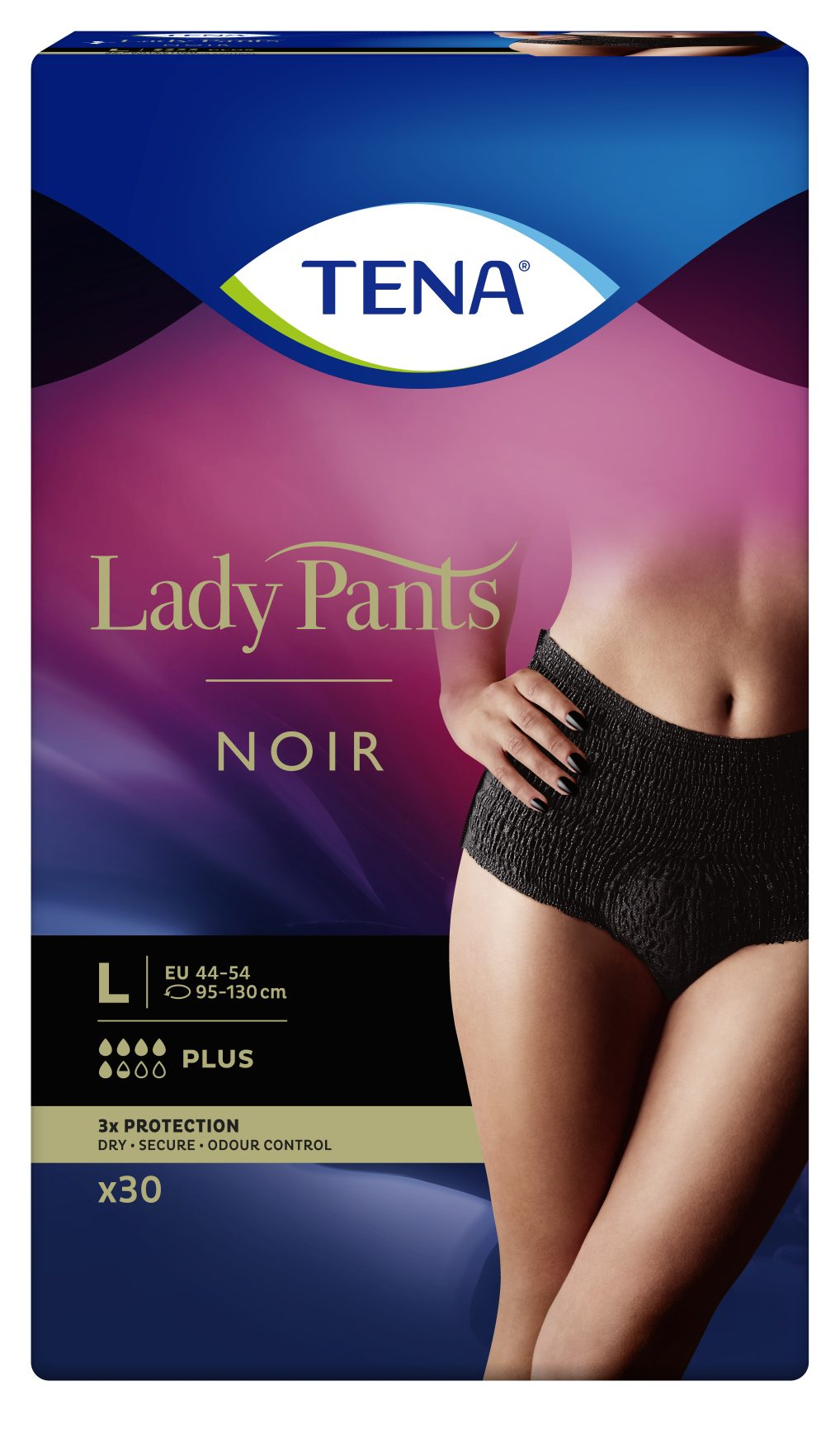 TENA Lady Pants PLUS NOIR LARGE 30ks