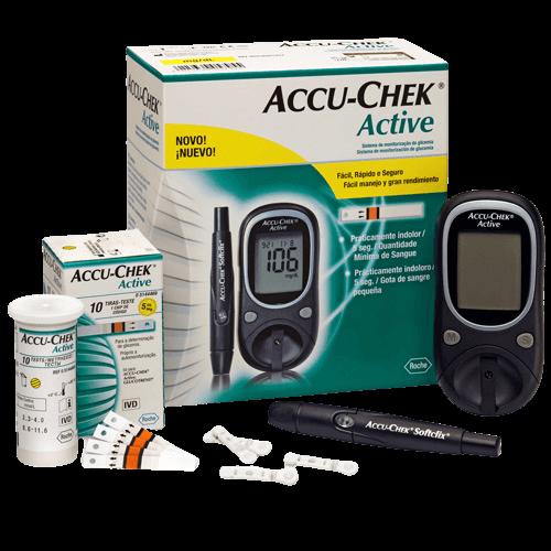 ACCU-CHEK Active Kit glukomer + príslušenstvo na monitorovanie glykémie