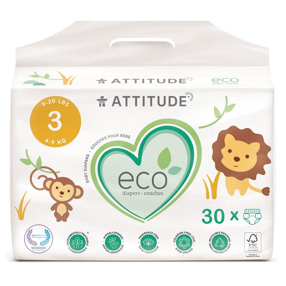 Attitude Detské plienky Midi biologicky rozložiteľné 30ks