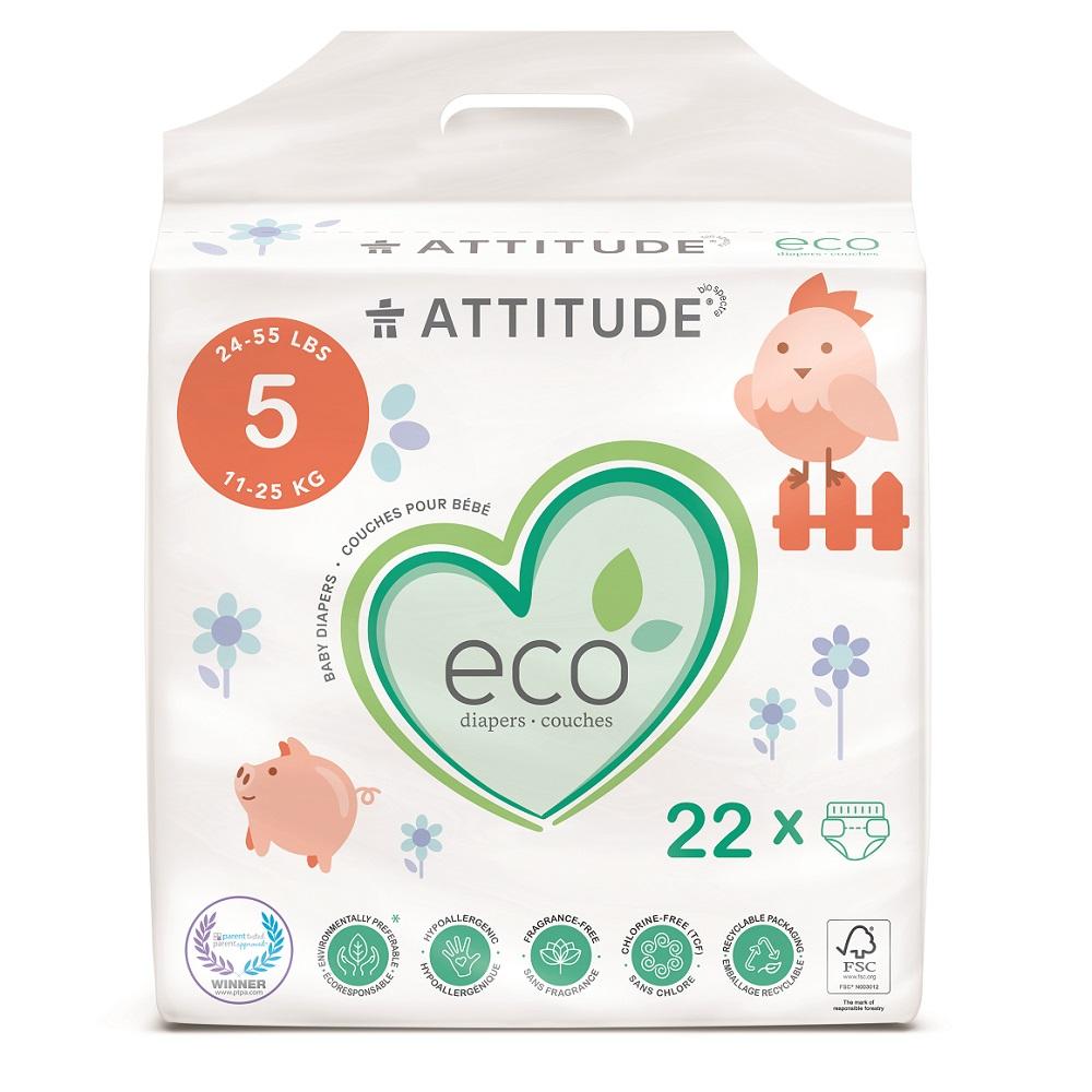Attitude Detské plienky Junior biologicky rozložiteľné 22ks