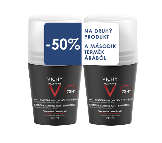 Vichy Homme Deo Roll-On 2x50ml