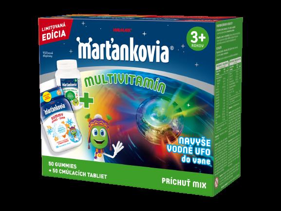 Walmark Vianoce Marťankovia Multivitamín 50 gummy + 50 tabliet mix + darček