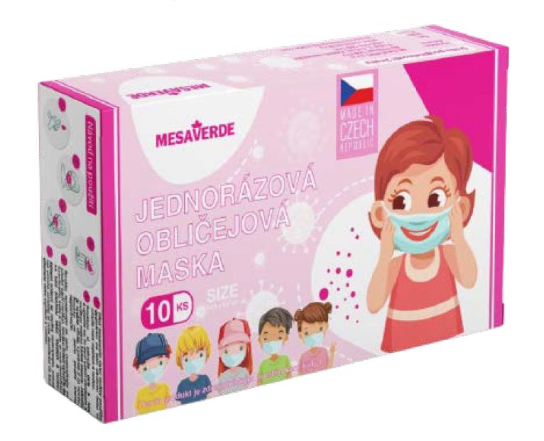 Detská tvárová maska pre dievčatá 10 ks