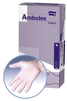Ambulex rukavice VINYLOVÉ veľ. M, nesterilné, nepúdrované 1x100 ks