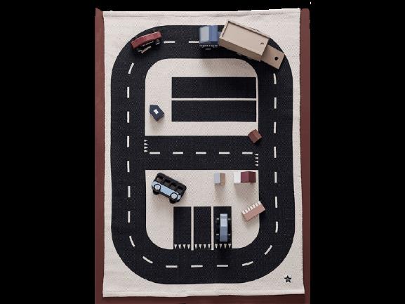 Kids Concept hrací koberec pre deti Diaľnica Aiden 90x130 cm