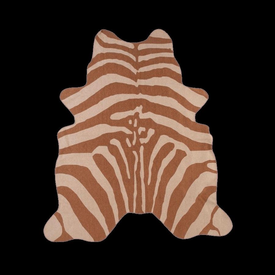 Kids Concept Hrací koberec pre deti Zebra hnedý 145x160 cm