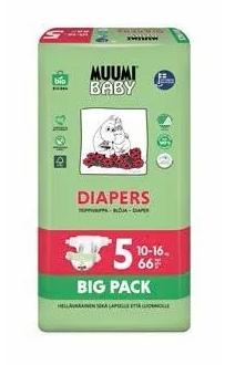 Muumi Plienky jednorázové 5 Maxi+ 10-16kg Big Pack 66ks