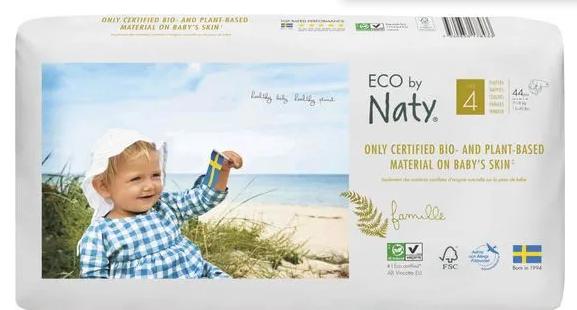 Naty Nature Babycare Plienky jednorázové 4 Maxi 7-18kg Economy pack 44ks