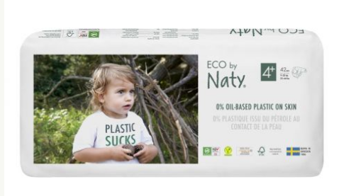 Naty Nature Babycare Plienky jednorázové 4+ Maxi+ 9-20kg Economy pack 42ks