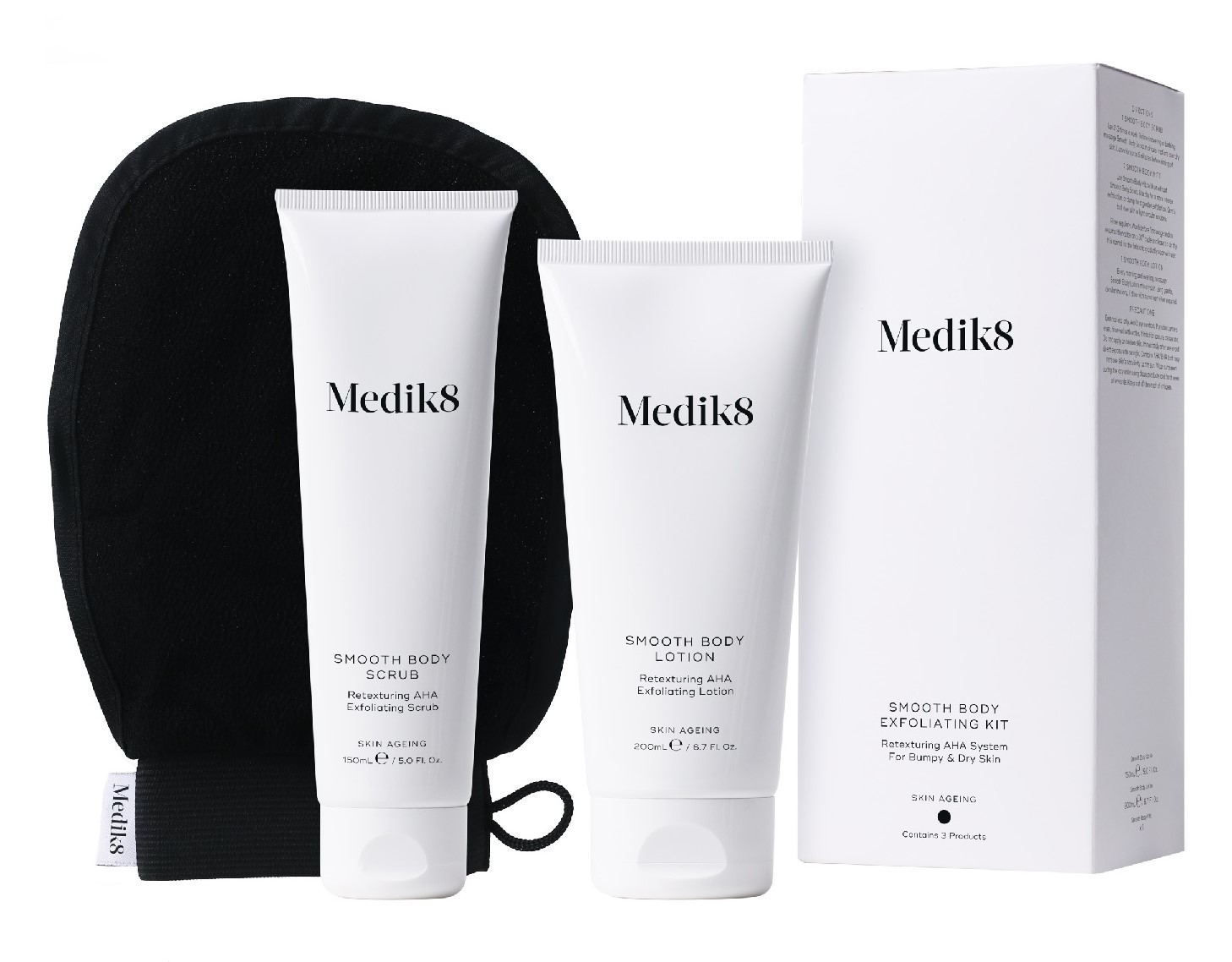 Medik8 Smooth Body Exfoliating Kit 3ks