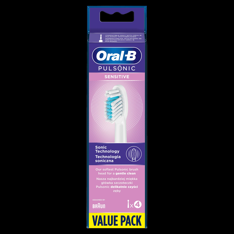Oral-B Pulsonic Sensitive náhradné hlavice pre sonickú kefku 4ks
