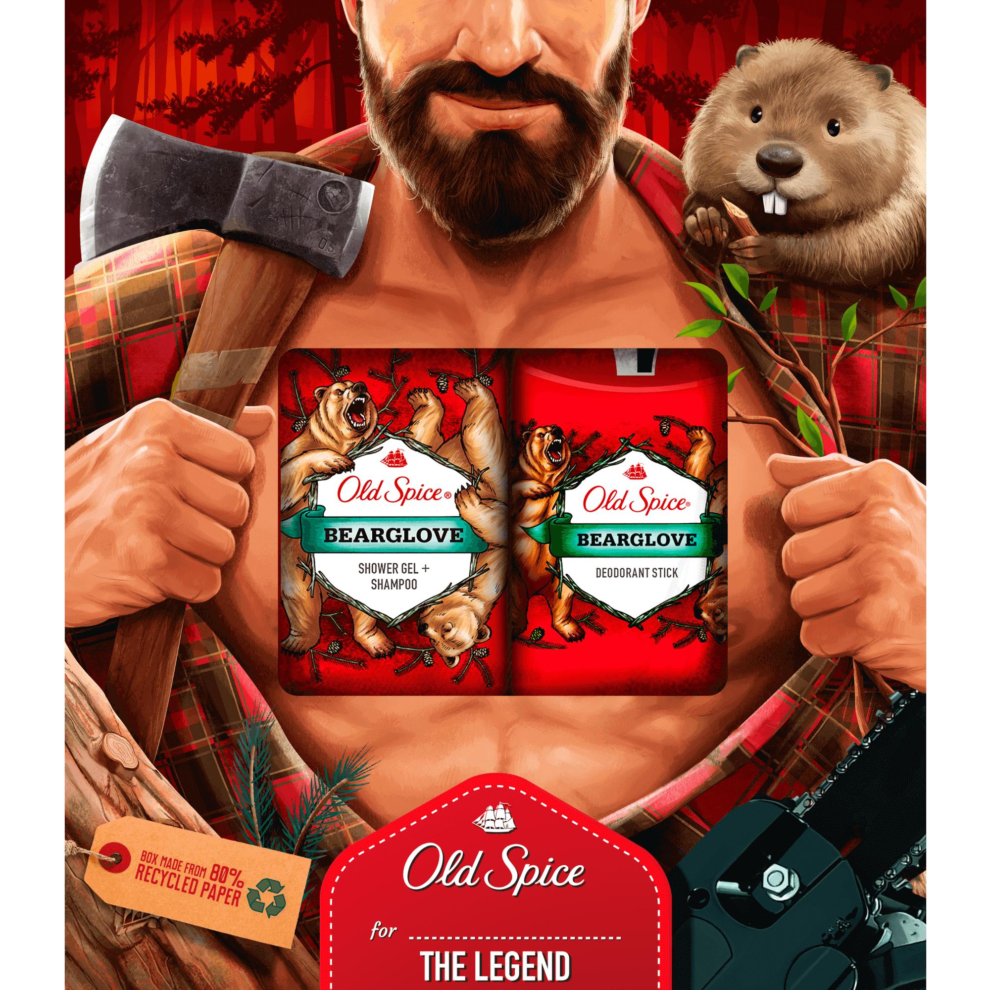 Vianočná sada Old Spice Bearglove Lumberjack