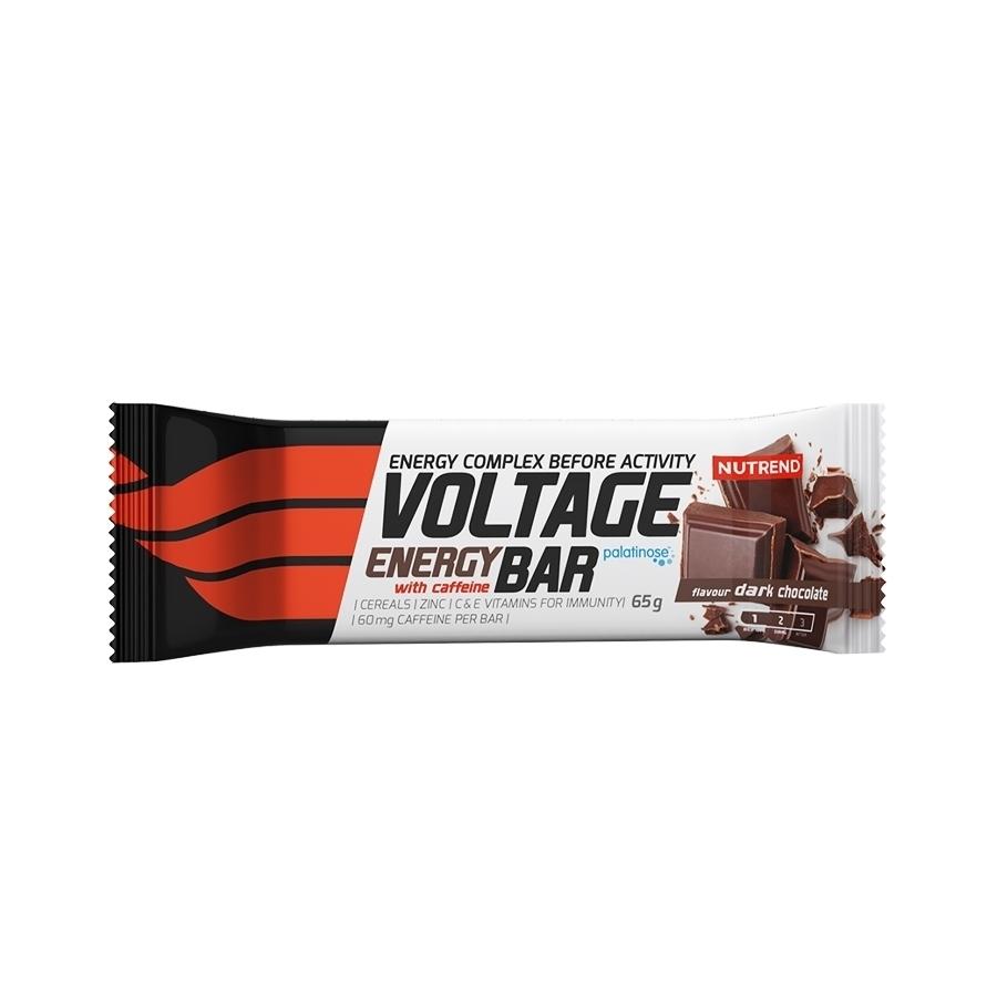 Nutrend Voltage Energy Bar with caffeine horká čokoláda 65g