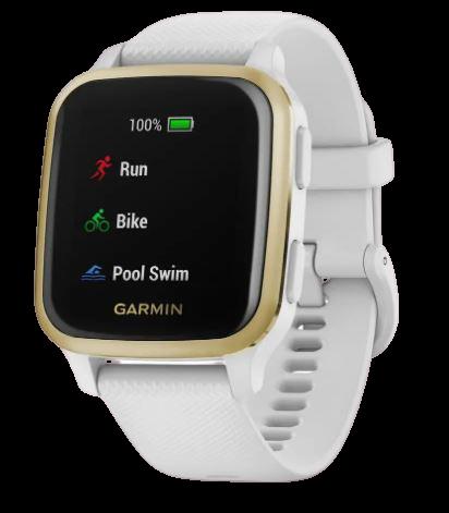 Garmin Smart hodinky Venu SQ White/Light Gold