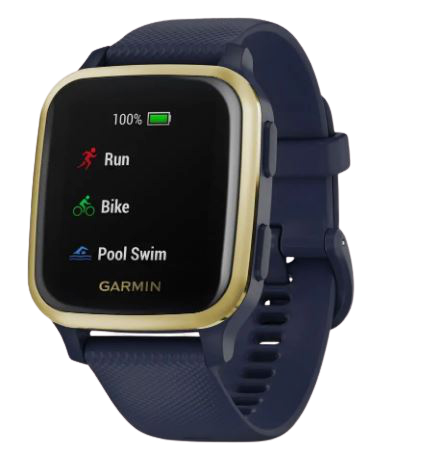 Garmin Smart hodinky Venu SQ Music Navy/Light Gold
