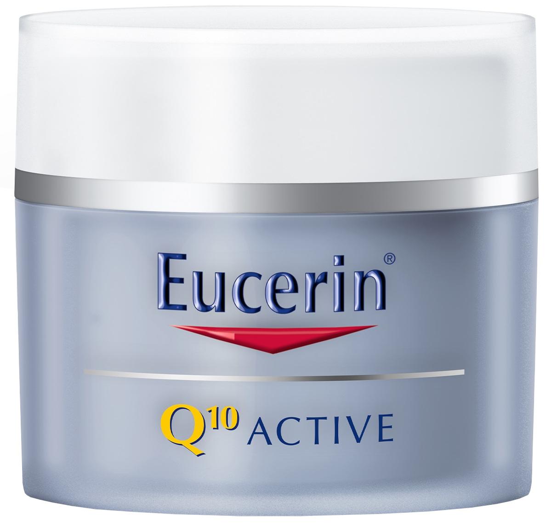 Eucerin Q10 ACTIVE nočný krém proti vráskam regeneračný na citlivú pokožku 50 ml