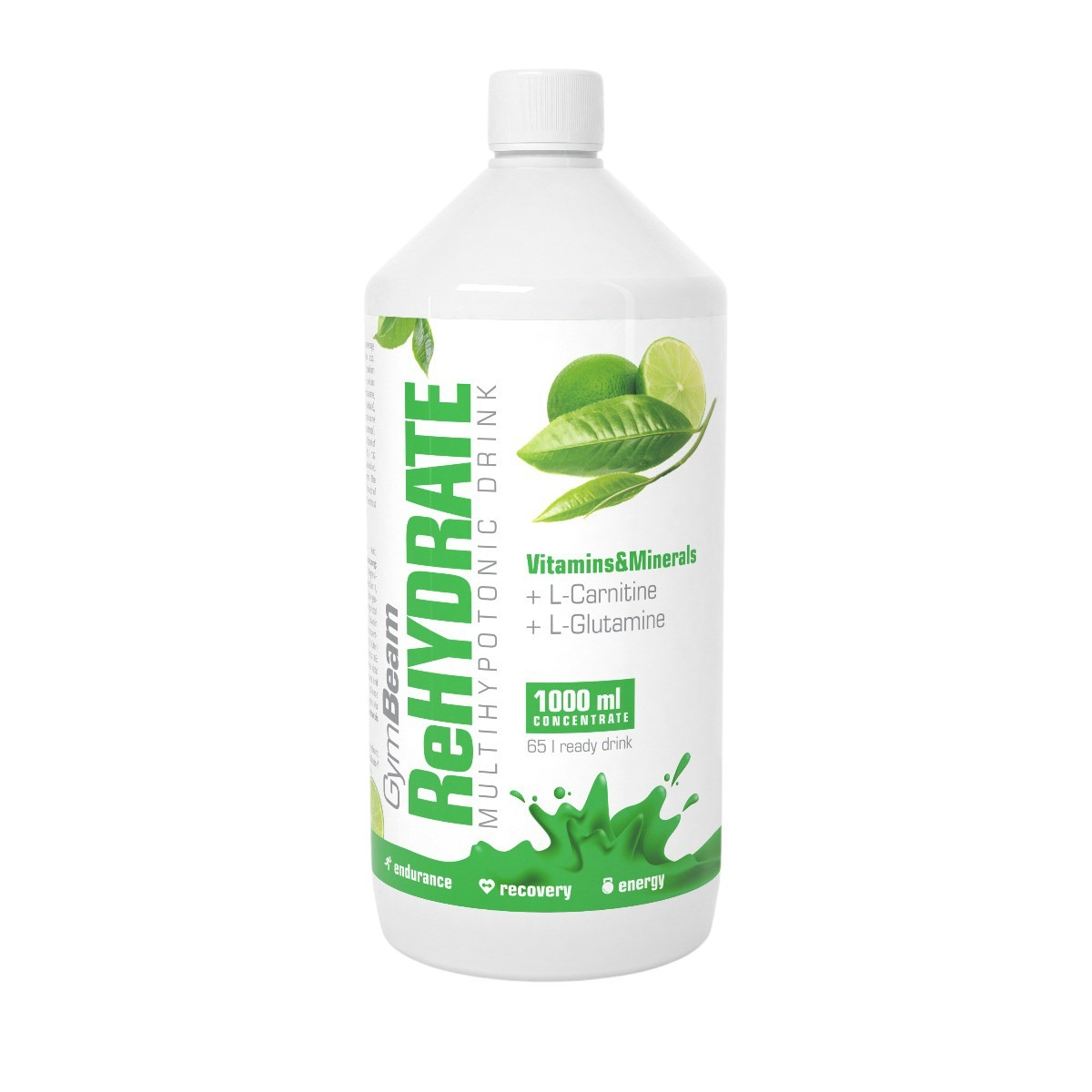 GymBeam ReHydrate zelený čaj s limetkou 1000ml
