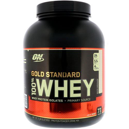 Optimum Nutrition 100 Whey Gold Standard biela čokoláda 2270g