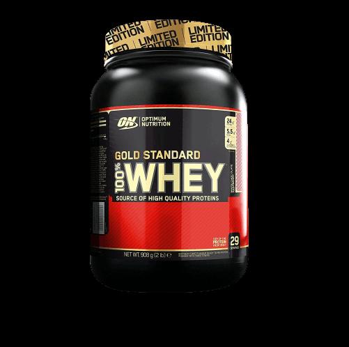 Optimum Nutrition 100 Whey Gold Standard biela čokoláda 910g