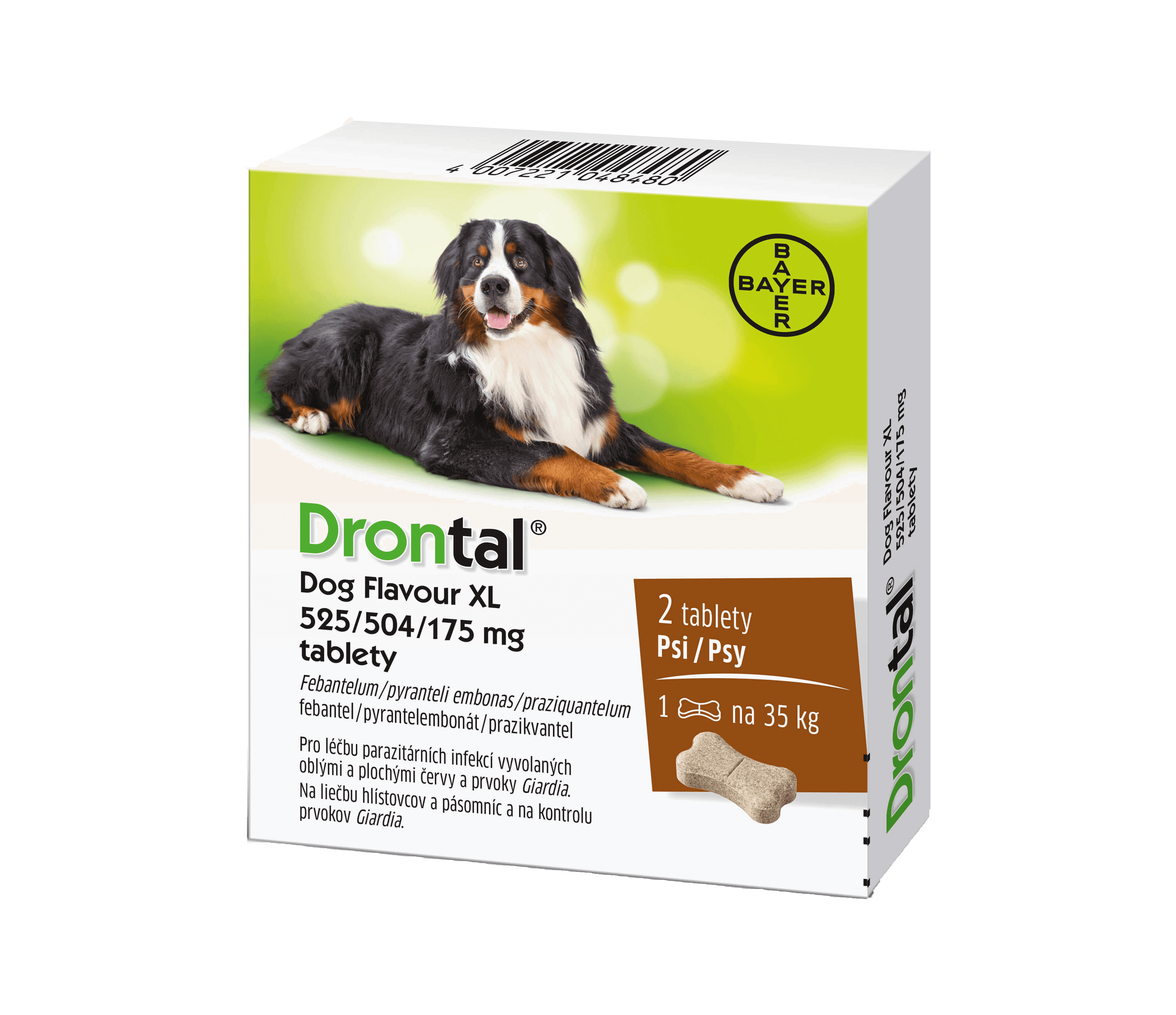 Drontal Dog Flavour XL 175 mg 2 tablety