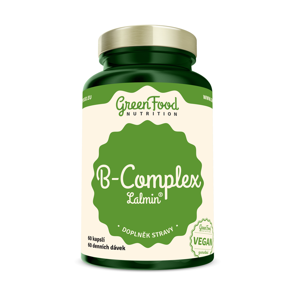 GreenFood B-KOMPLEX Lalmin® 60 kapsúl