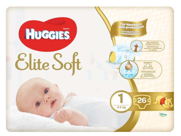 HUGGIES® Elite Soft veľ. 1 26ks