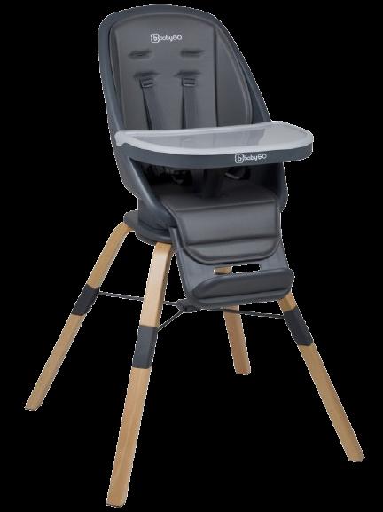 Jedálenská stolička CAROU 360° Grey