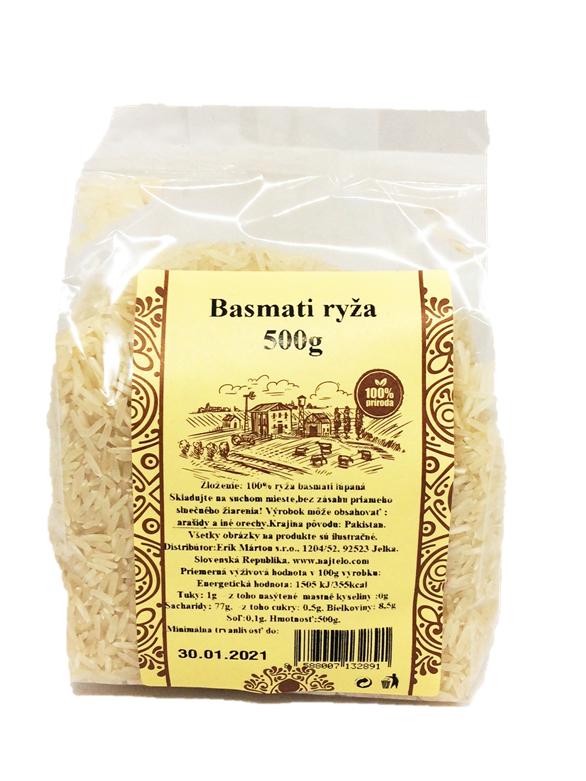 Najtelo Basmati ryža 500g