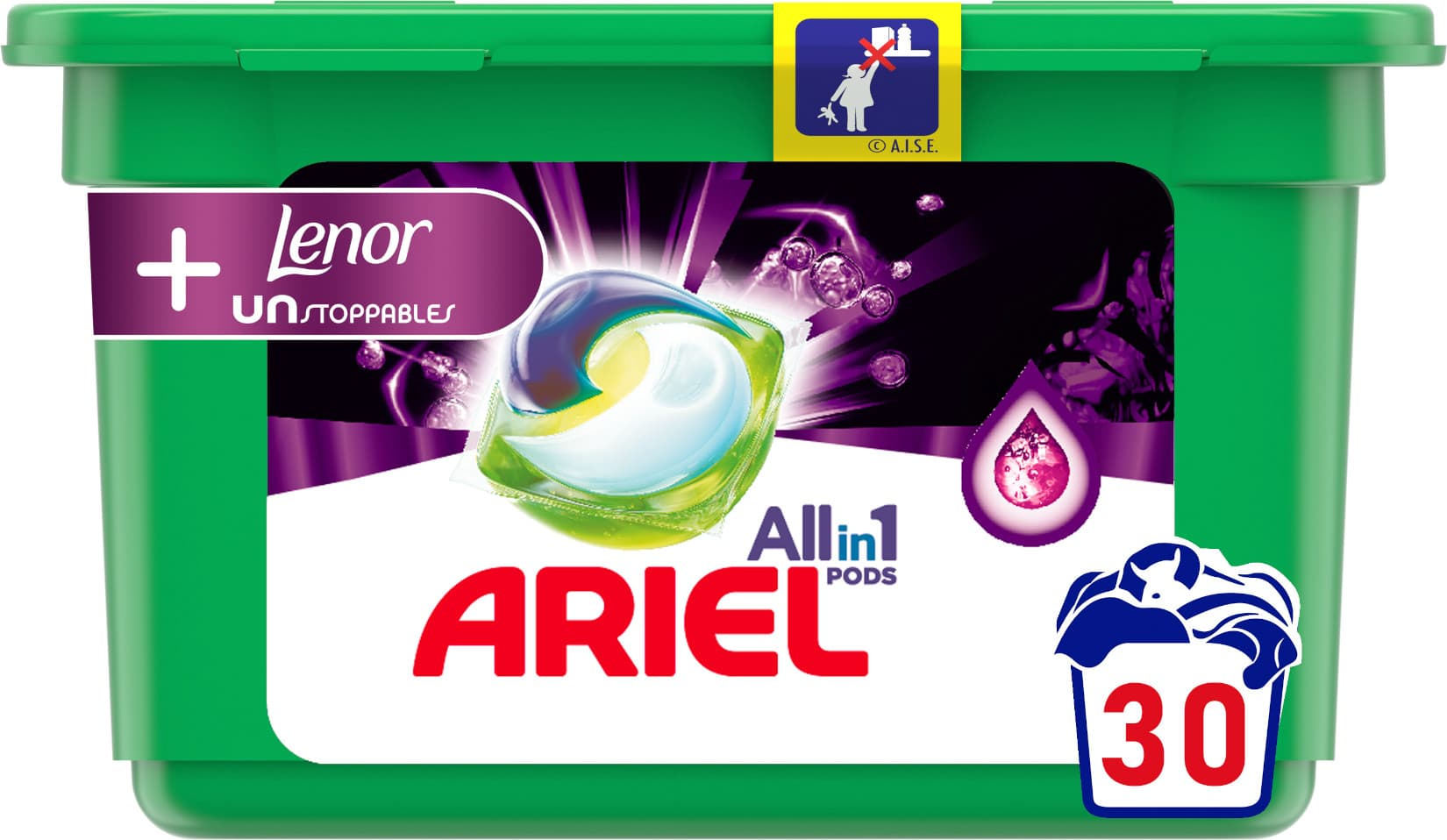 Ariel All-in-1 Touch of Lenor Unstoppables, Gelové tablety 30ks