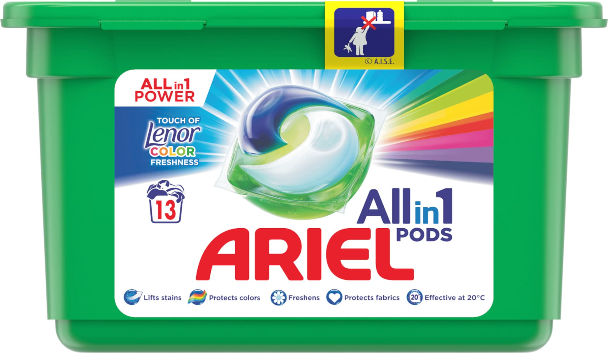 Ariel All-in-1 Color, Touch of Lenor, Gelové tablety 13ks