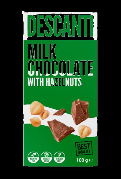 Descanti Mliečna Čokoláda bez pridaného cukru 100g