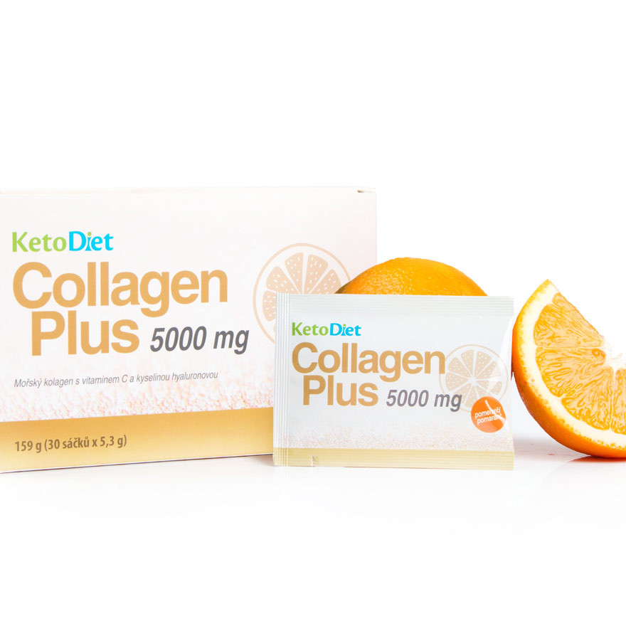 KetoDiet Collagen Plus 5000 mg – príchuť pomaranča