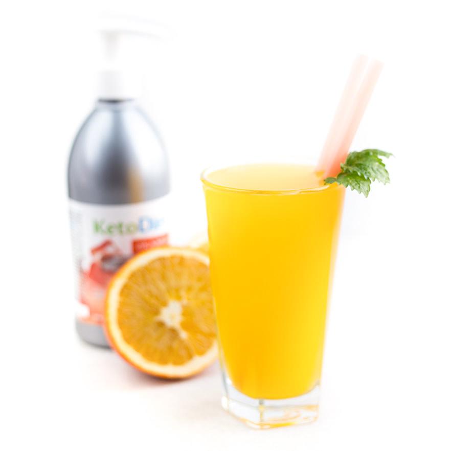 KetoDiet Sirup bez cukru s príchuťou Orange 500ml