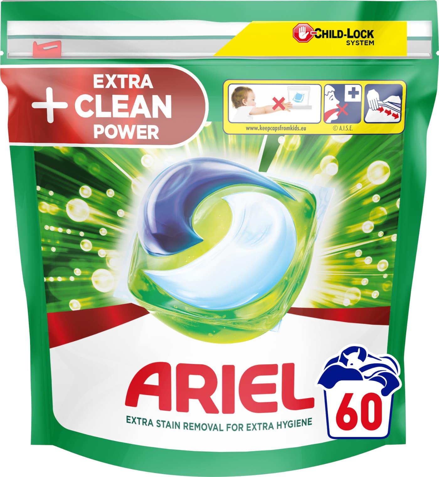 Ariel All-in-1 Extra Clean, Gelové tablety 60ks
