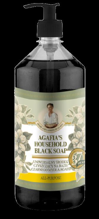 Matura Siberica Agafja viacúčelové čierne mydlo do domácnosti 1000ml