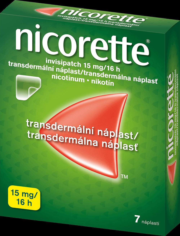 Nicorette invisipatch 15 mg/16 h transdermálna náplasť 7ks