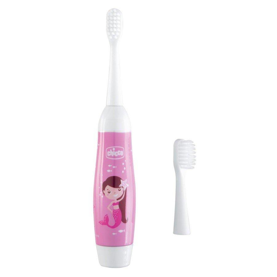 Chicco Elektrická zubná kefka od 3 rokov, ružová