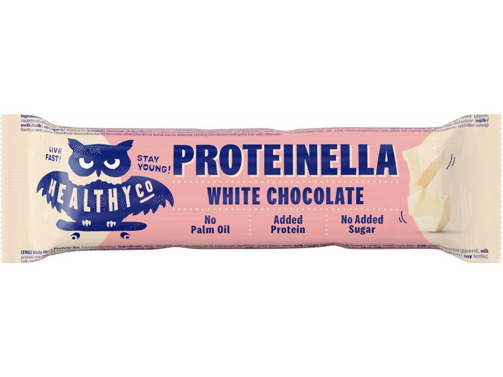 HealthyCO Proteinella Chocolate Bar, Biela čokoláda 35g