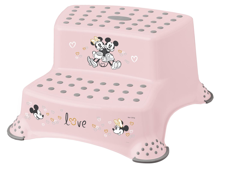 Keeeper Dvojstupínek k WC/umyvadlu Minnie růžová