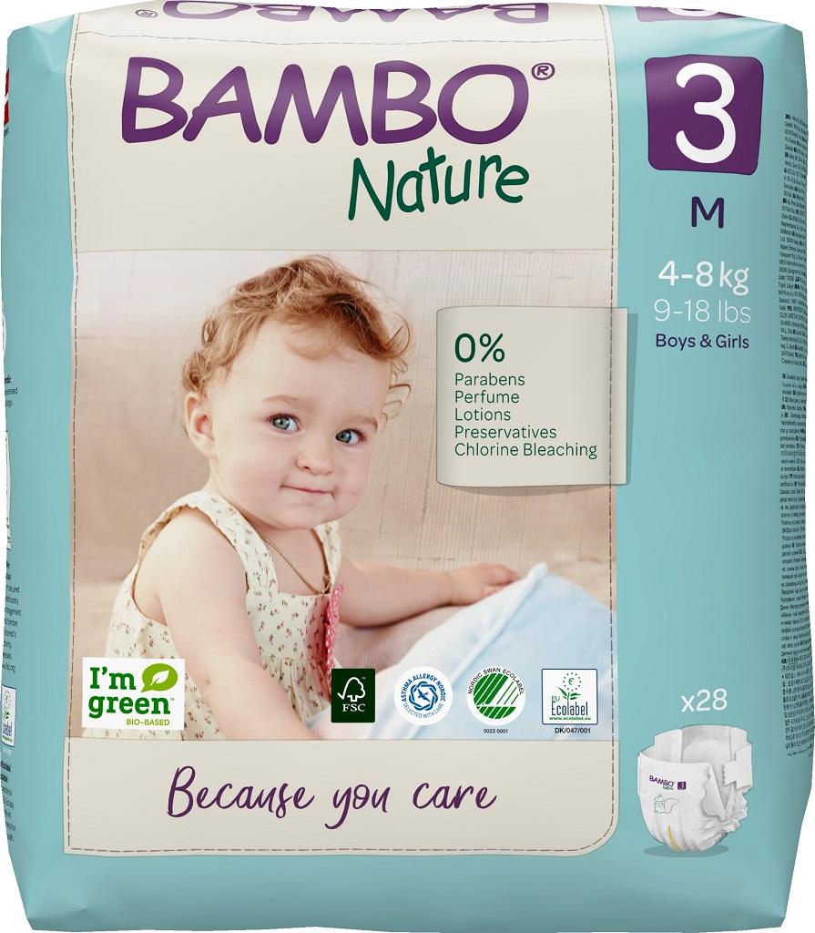 BAMBO 3 4-8 kg detské plienky 28 ks