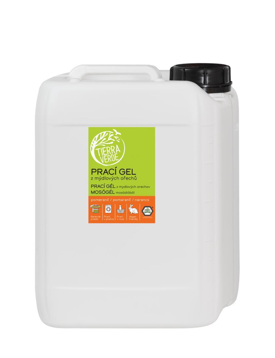 Tierra Verde Prací gél z mydlových orechov s pomarančovou silicou kanister 5l