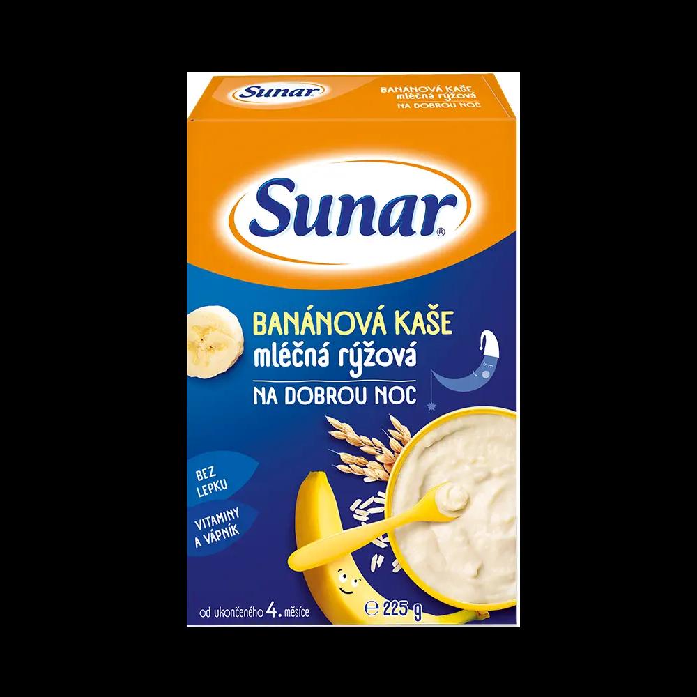 Sunar Krupicová vanilková kaša mliečna na dobrú noc (od ukonč. 6. mesiaca) 225g
