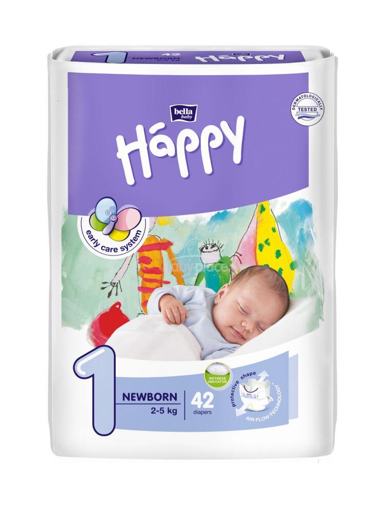 Bella Baby Happy New Born 2-5 kg detské plienk. nohavičky 42ks