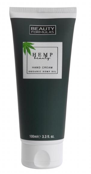 BeautyFormulas Krém na ruky s konopným olejom 100ml