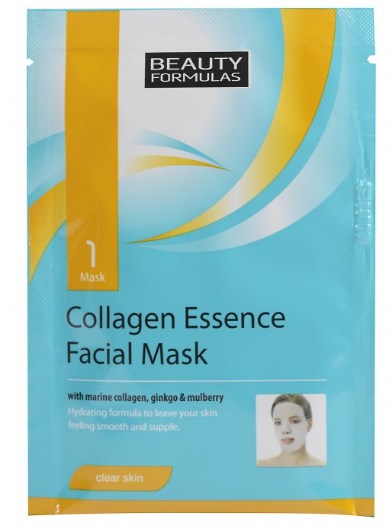Beauty Formulas Kolagénová maska na tvár 1ks